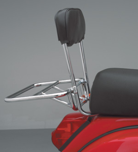 Backrest w/ Fold Down - Chrome (SKU: RBR2-C)