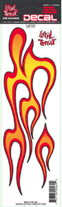 "Decal/Sticker, Flame Right - 3 x 10"" (SKU: 1600-0110)"