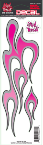 "Decal/Sticker, Pink Flame Right - 3 x 10"" (SKU: 1600-0112)"