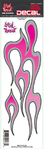"Decal/Sticker, Pink Flame Left - 3 x 10"" (SKU: 1600-0113)"