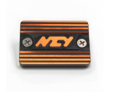 NCY Master Cylinder Cap, Yamaha - Black/Orange