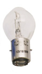 Headlight Bulb, 12V 18/18W 'BA20D' base