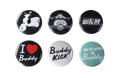 Scooter Buttons (6 Pack, Series 4)