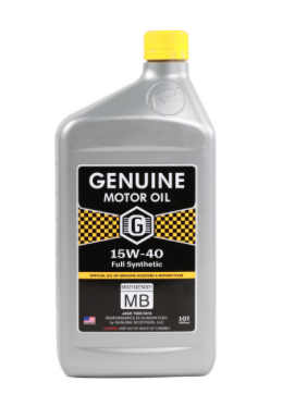Oil, 4-stroke - Genuine 15W40 Synthetic