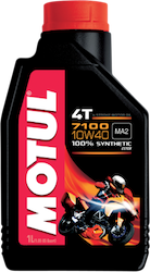 Oil, 4-stroke - 7100 Motul 10w40 Synthetic, 4 LITER BOTTLE