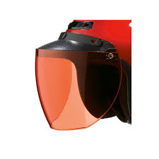 Helmet Accessory, 3 Snap Amber Flip Face Shield