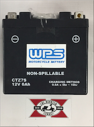 Battery, Z7S (WPS Brand or Parts Unlimited Brand depending on stock availability)