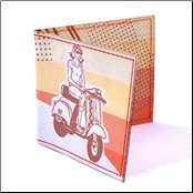 Wallet, Sunset w/Scooter Lady (SKU: 0100-0040)
