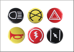 Scooter Buttons (6 Pack, Series 3) (SKU: 0100-0402)