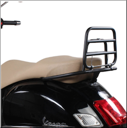 Rear Rack, Fold-Down, Black for Vespa GTS 250/300