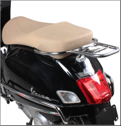 Rear Rack for Top Case, Chrome for Vespa GTS/GTV