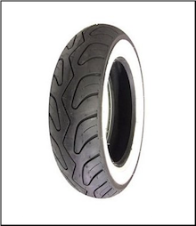 100/90-10, Prima Whitewall Tire (SKU: 0600-0057)