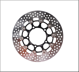 NCY Zuma 125 Type 8 Stainless Floated Brake Disk - 260mm (SKU: 1000-1098)