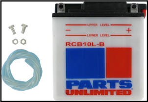 Battery, 10-LB (WPS Brand or Parts Unlimited Brand depending on stock availability) (SKU: RCB10LB and 49-3004)