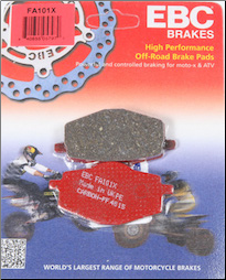 Brake Pads, FA101 EBC for Yamaha Vino 125 (SKU: 15-101X)