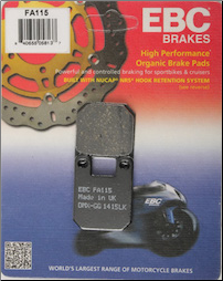 Brake Pads, FA115 EBC Brand for Derbi Atlantis (SKU: 15-115)