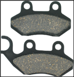 Brake Pads, FA264 EBC Brand Buddy 125/150/170 and more (SKU: 1722-0669)