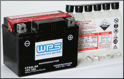 Battery, 4L-BS (Parts Unlimited Brand or WPS depending on stock availability) (SKU: 49-2263)