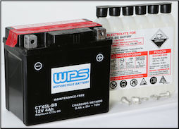 Battery, 5L-BS (WPS Brand OR Parts Unlimited Brand depending on stock availability) (SKU: 49-2266)