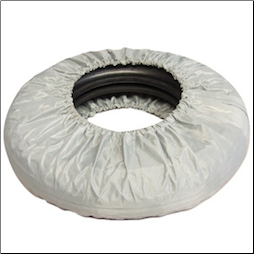 "Spare Tire Cover, Grey - 8"" (SKU: 610008M)"