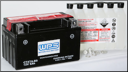 Battery, 7A-BS (Parts Unlimited Brand or WPS Brand depending on stock availability)