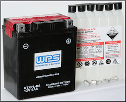 Battery, 7L-BS (WPS or PU brand depending on availability)