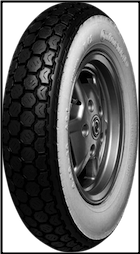 3.50-10, Continental K62 Whitewall Tire (SKU: 0340-0006)