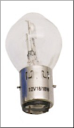 Headlight Bulb, 12V 18/18W 'BA20D' base (SKU: 138-19)
