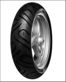 120/70-12, Continental TL Zippy 1 Tire (SKU: 0340-0076)