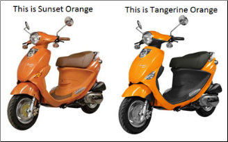 Img Ref #15   FR SECTION FRONT FENDERTANGERINE  (SKU: P56320002T00 Buddy 50 Front Fender)