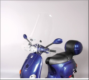 Windscreen, Large - Vespa ET2/ET4 (SKU: ETWS1)