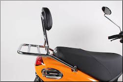 Rear Rack with Backrest, Buddy - Chrome