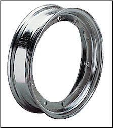 Rim, 3.50 x 10 chrome (SKU: R10C)