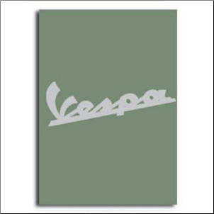 Notebook, Vespa Logo - Green, 6x8