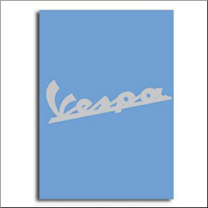 Notebook, Vespa Logo - Blue, 6x8