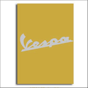 Notebook, Vespa Logo - Yellow, 6x8