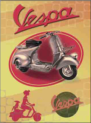 Tin Sign, Red Fenderlight - 15x12 (SKU: 0100-0520)