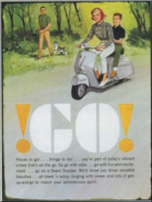 Tin Sign, Vespa !GO! 14x10