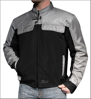 1 Prima Pullman Riding Jacket, Grey and Black