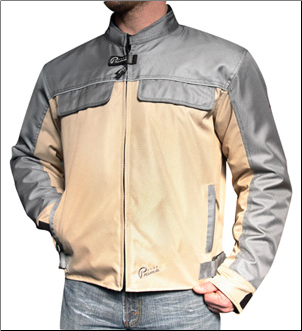1 Prima Pullman Riding Jacket, Grey & Tan