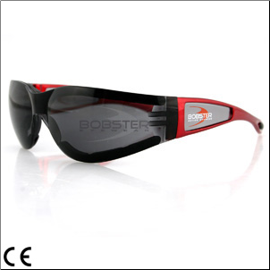 Riding Glasses, Bobster Shield II, Red Frame