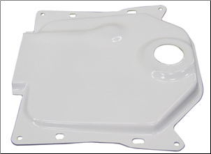 NCY Gas Tank Cover, White - Ruckus