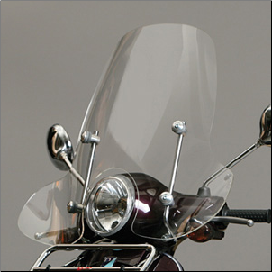 Windscreen, Prima - Vespa LX/GT/GTS - Tall, Clear (SKU: 0700-1004)
