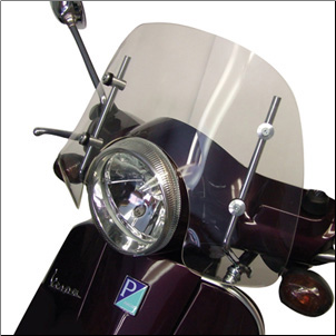 Windscreen, Prima - Vespa LX/GT/GTS - Short, Clear (SKU: 0700-1006)