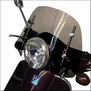 Windscreen, Prima - Vespa LX/GT/GTS - Short, Smoke (SKU: 0700-1010)