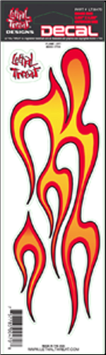 "Decal/Sticker, Flame Left - 3 x 10"" (SKU: 1600-0111)"