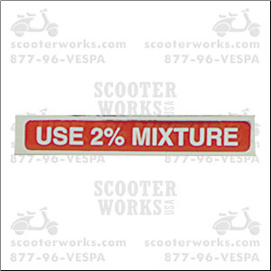 Decal - Use 2% Mixture