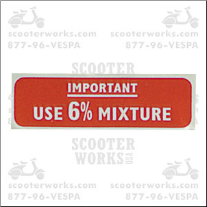 Decal - Use 6% Mixture
