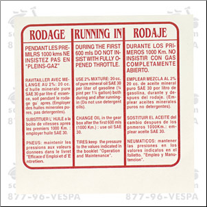 Decal, Running In - Rodaje