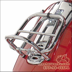 Small Front Rack, Chrome  - Vespa ET2/ET4 (SKU: ETFR2)